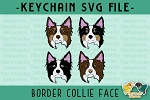 Border Collie Face SVG