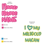 Custom Name or Phrase Vinyl Decal