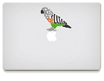 Red Bellied Parrot Vinyl Decals