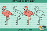 Flamingo Pattern SVG