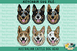 Australian Cattle Dog Head SVG