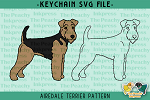 Airedale Terrier Pattern SVG