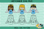 Angel Girl Pattern SVG