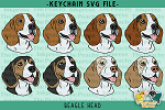 Beagle Head SVG