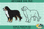 Bernese Mountain Dog Pattern SVG