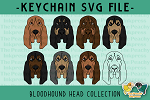 Bloodhound Head Collection SVG