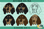 Bloodhound Head V2 SVG