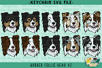 Border Collie Head V2 SVG