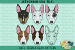 Bull Terrier Head SVG