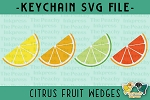 Citrus Fruit Wedge Pattern SVG