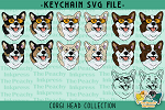 Corgi Head Collection SVG
