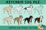Cropped Ear Pitbull Pattern SVG