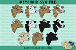 Dairy Cow Head Collection SVG