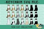 Domestic Short Hair Cat Collection SVG