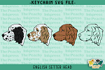 English Setter Head SVG