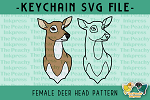 Female Deer Doe Head SVG