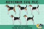 American Foxhound / Treeing Walker Coonhound Pattern SVG