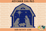 -FREE- Barn Nativity Pattern SVG