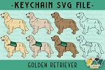 Golden Retriever Collection SVG