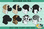 Great Dane Head Floppy Ears SVG
