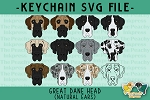 Great Dane Head (Natural Ears) Collection SVG