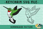 Hummingbird Pattern SVG