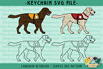 Labrador Retriever Service Dog Collection SVG