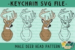 Male Deer Buck Head SVG