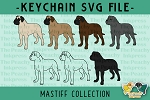 English Mastiff Collection SVG