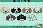 Miniature / Toy Poodle Head SVG