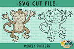 Monkey Pattern SVG