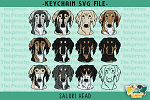 Saluki Head SVG