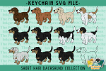 Short Hair Dachshund Collection SVG