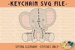 -FREE- Stuffed Elephant Pattern SVG