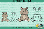Sitting Hippo Collection SVG