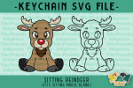 Sitting Reindeer SVG