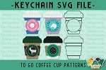 To Go Coffee Cup Pattern SVG